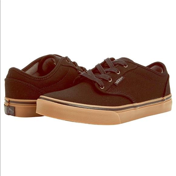 boys vans black shoes